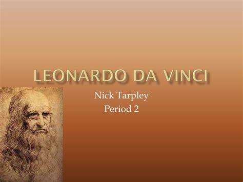 Ppt Leonardo Da Vinci Powerpoint Presentation Id 2928846 Leonardo Da Vinci Powerpoint