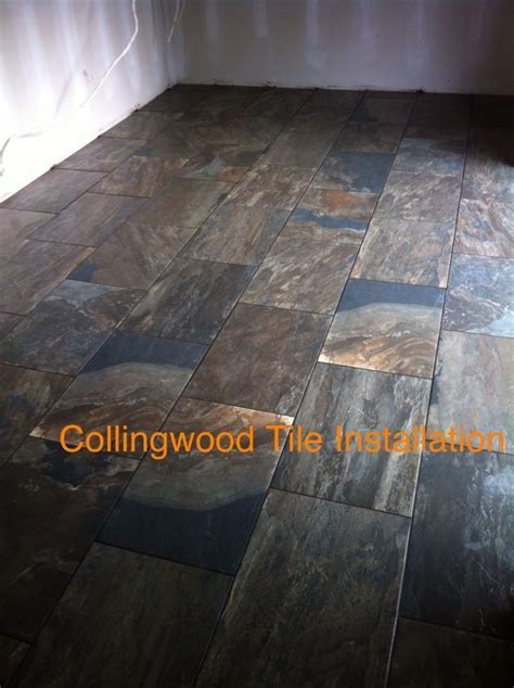 porcelain tile made to look like slate   Collingwood Tile
