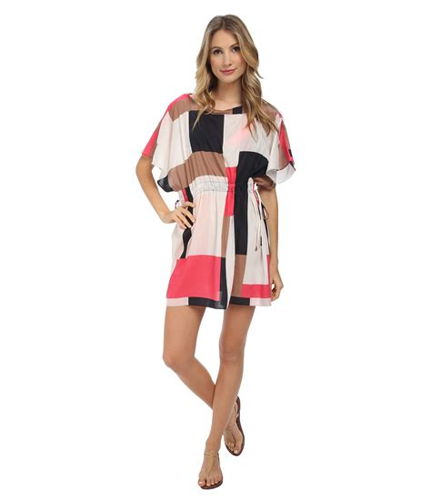 Kate Spade Cl011 Set 3 In 1 Semi Premium kate spade new york mykonos color block pull cord dress in pink lyst