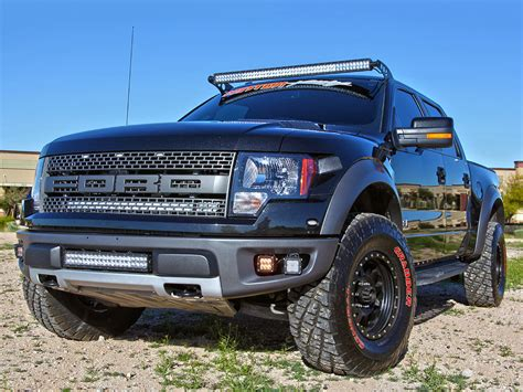 ford raptor led light bar 2010 2014 f150 raptor rigid led road fog light bracket