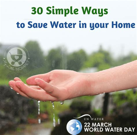 30 simple ways to save water in your home