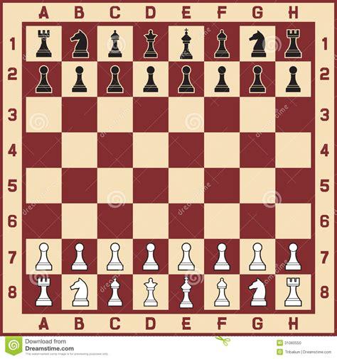 tabla del ajedrez con las figuras foto de archivo imagen