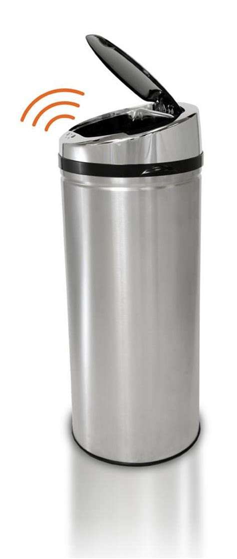 Kitchen Trash Can Sizes by Itouchless Kitchen Size Automatic Stainless Steel