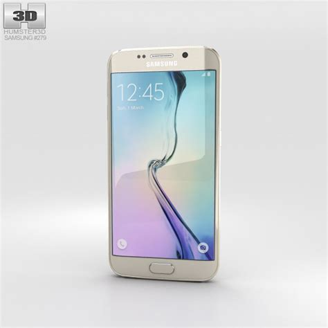 Samsung S6 Edge Gold Samsung Galaxy S6 Edge Gold Platinum 3d Model Humster3d