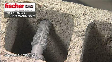 fixation dans parpaing creux 4179 scellement par injection fischer