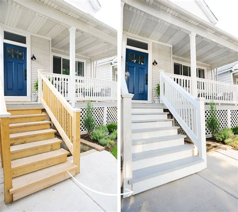 year painting  exterior stairs