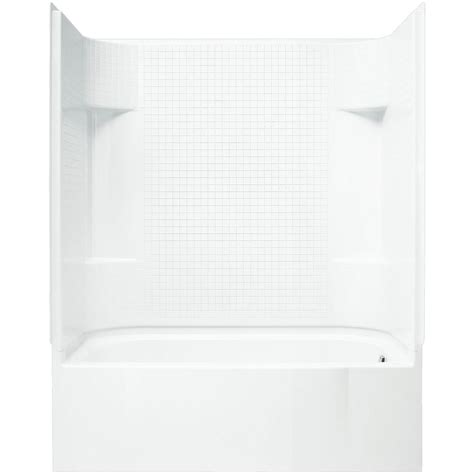 shower kit with bathtub sterling accordtile 30 in x 60 in x 74 in bath and