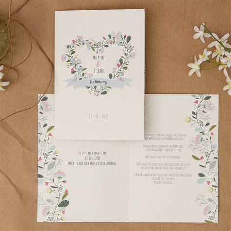 Einladung Postkarte Hochzeit by Vintage Flower Einladung