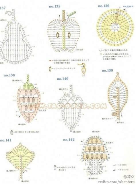 patrones de frutas tejidas a mano 8 patrones crochet de apliques con forma de frutas todo