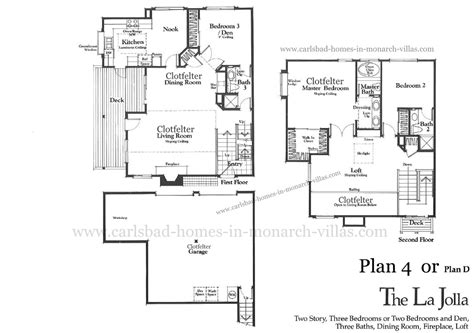 monarch homes floor plans carlsbad california homes in monarch villas have four