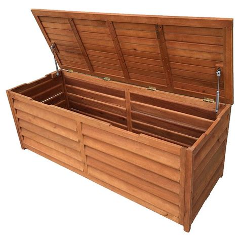 chest benches outdoor timber storage chest 3 seat bench 150cm buy
