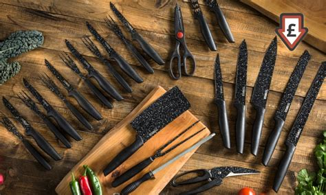 Tower 24 Piece Stone Coated Knife Set for £18.98