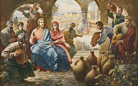 Wedding Feast At Cana Of Galilee by Garden Of 187 Dedicated To Our Blessed 187 Second