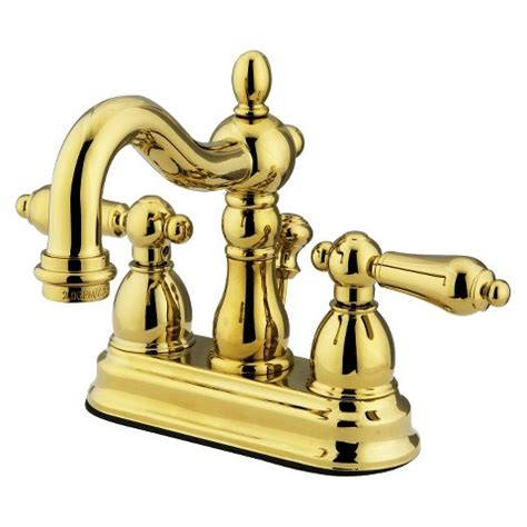 heritage polished brass bathroom faucet target