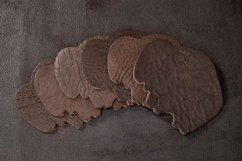 Buffalo Leather by Buffalo Leather Coasters American Bison Buffalo
