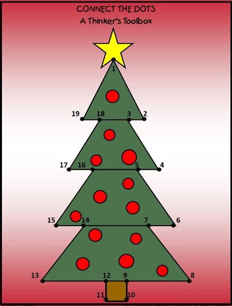 connect the dots christmas tree 12 best a thinker s toolbox shop on bst images on tool box toolbox and center ideas