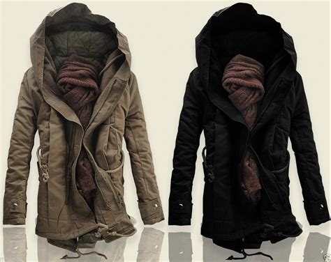 winter clothes fashion new mens coat casual winter parka warm anorak overcoat trench clothes ebay