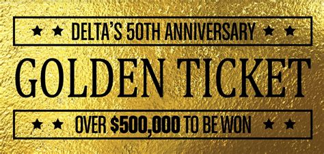 Delta Ticket Giveaway - delta bingo gaming golden tickets brton delta bingo gaming
