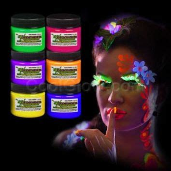 glow in the paint temporary glominex ah921 glow in the and from