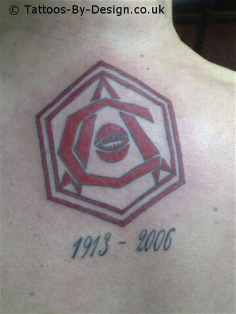 arsenal fc 1930 s crest tattoo