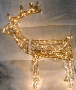 grapevine animated buck reindeer lighted christmas deer