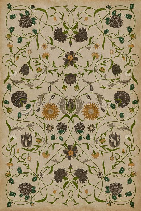 Williamsburg Floorcloth   Floral Martha   Alex Pifer's The