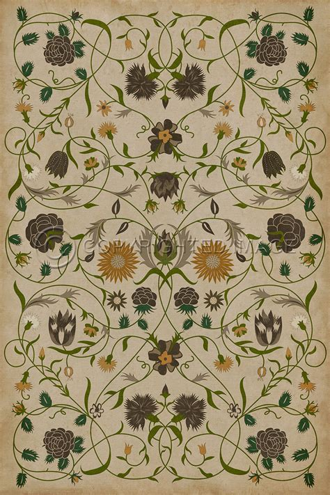 Williamsburg Floorcloth   Floral Martha   Alex Pifer's The