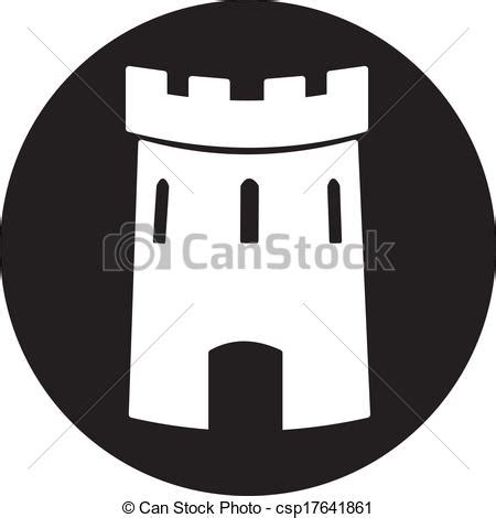Chateau Home Plans Clip Art Vector Of Medieval Castle Tower Vector Icon
