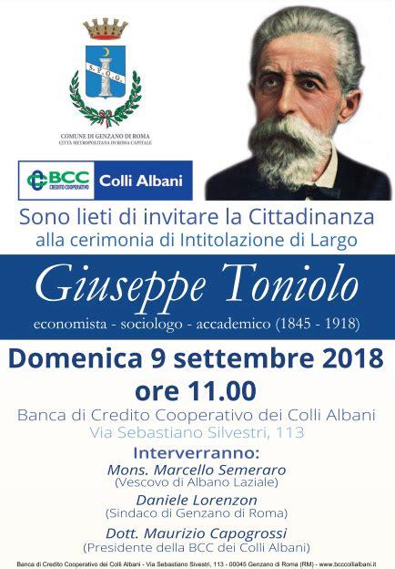 toniolo genzano genzano domenica 9 settembre la cerimonia di