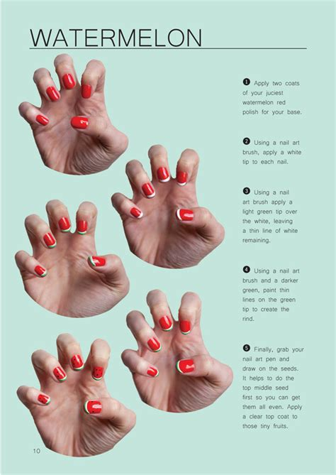 tutorial watermelon nail design chelsea bagan of trophy wife nail art the design files