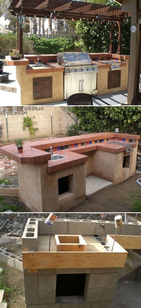 outdoor kitchen ideas cheap basic outdoor kitchen plans