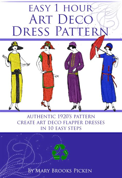 Art Pattern Dress | easy 1 hour art deco dress pattern create a vintage downton