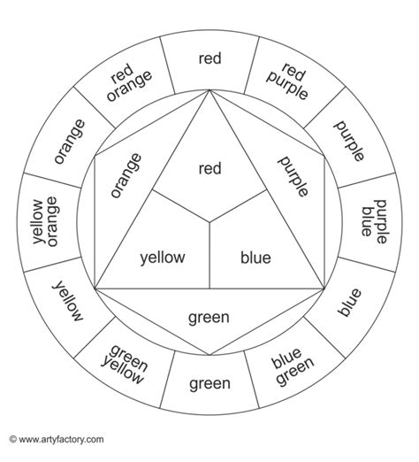 printable color wheel coloring page color wheel chart coloring pages