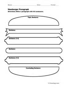 hamburger paragraph template the world s catalog of ideas