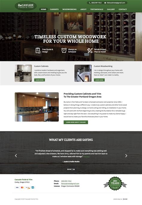 woodworkers web carpenter website design portfolio cemah creative llc