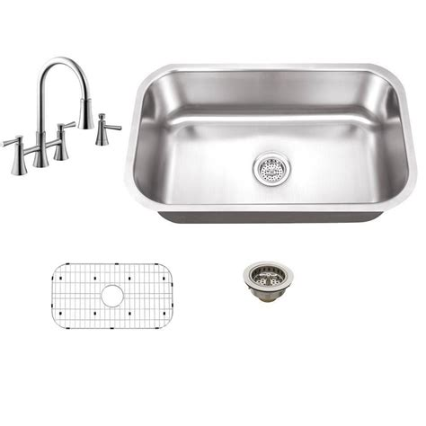 single hole faucet placement for undermount sinks schon all in one undermount stainless steel 30 in 0 hole