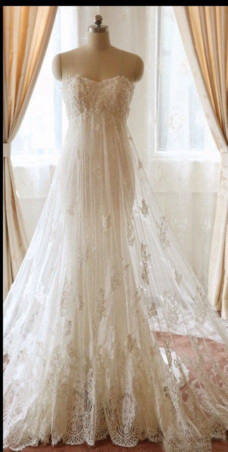 Wedding Dress Etsy by Strapless Empire Waist Lace Wedding Dress 750 Etsy Shop