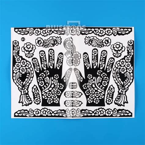 indian henna tattoo diy henna mehndi stencils indian wedding