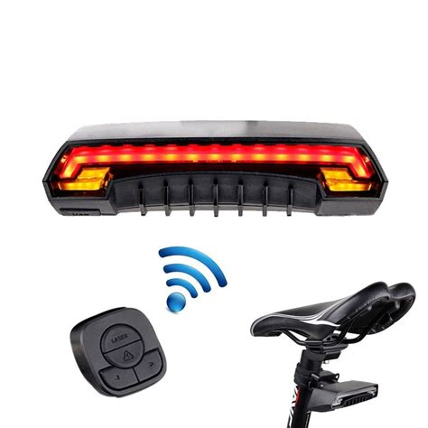 easy on wireless tail lights bicycle bike indicator signal led rear tail laser light