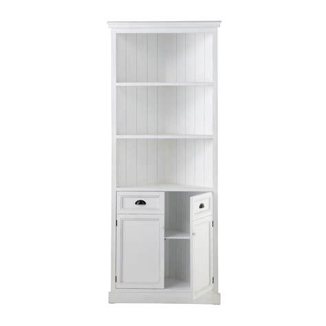 meuble d angle en bois blanc l 84 cm newport maisons du monde