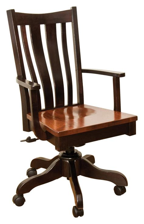 Amish Desk Chair by Trenton Gas Lift Desk Chair From Dutchcrafters Amish Furniture
