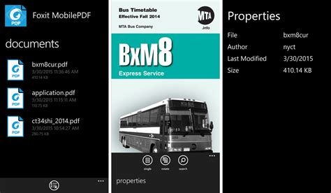mobile pdf reader foxit mobilepdf reader comes to windows and windows phone