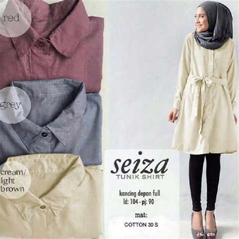 Terbaru Atasan Wanita Blouse Tunik Wanita Baju Muslim Treefi Top baju atasan seiza tunik model busana kerja wanita modern