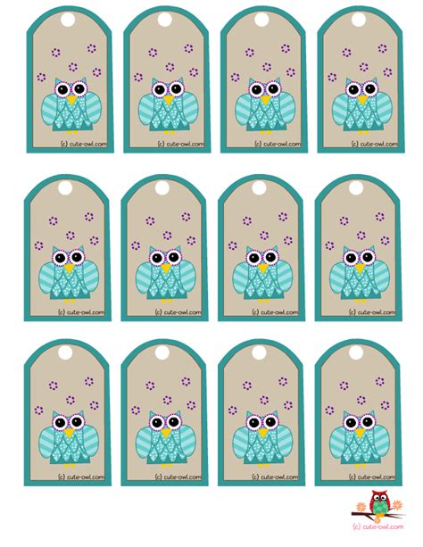 printable owl labels free printable cute owl party favor tags
