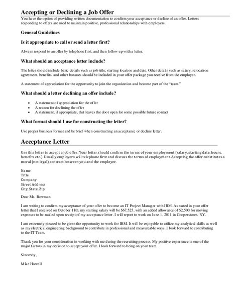 Response Offer Letter Cover Letters You Will Always Need