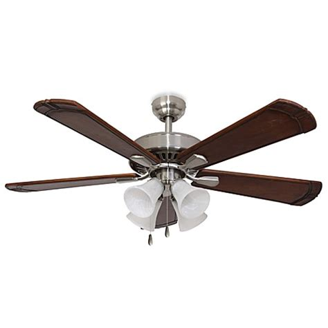 bed bath and beyond ceiling fans 52 inch marston 4 light brushed nickel ceiling fan bed