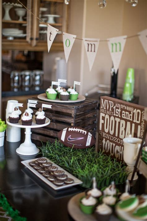 football themed decorating ideas s football birthday the tomkat studio