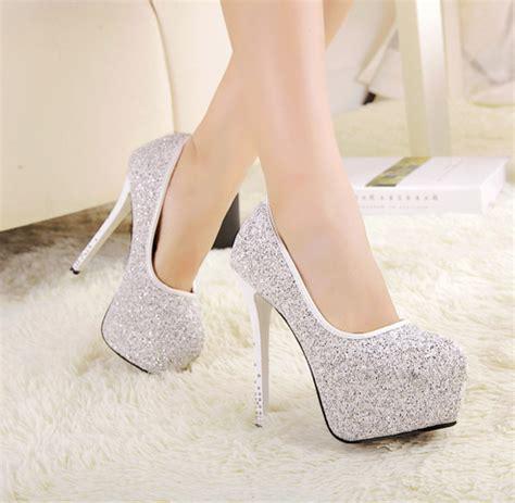 High Heells 14cm drop shipping sparking ultra high heels 14cm thin heels shoes shiny stiletto shoes
