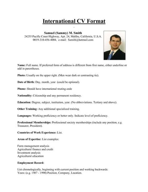 resume format for overseas international resume format for overseas this sum keeps simple and showcases what you