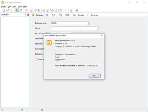 php report maker 9 serial key free